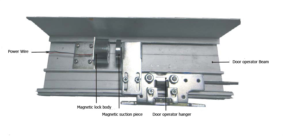 Magnetic lock for sliding door installation