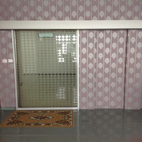 Automatic single panel sliding door electric side