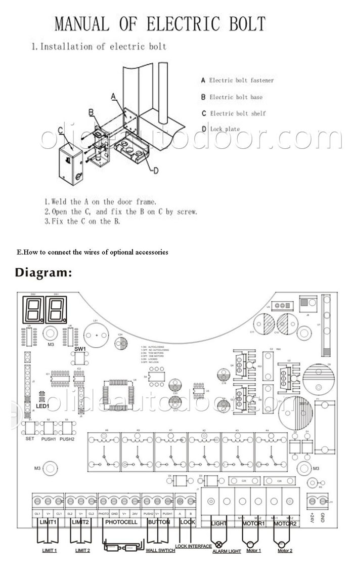 swing gate opener wire connection_diagram ahouse gate opener wiring diagram schematic for stanley garage  at gsmx.co