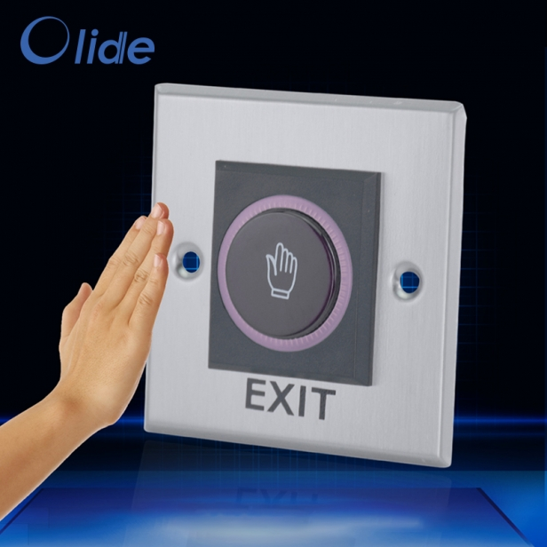 Stainless Steel 86 Type Hand Sensor Switch For Door Access Control,Hand Infrared Sensored Door Exit Button Switch