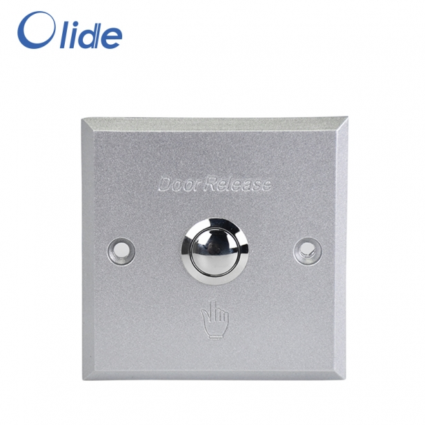 Durable Aluminum Alloy Door Access Switch, Door Exit Push Button For Access Control System