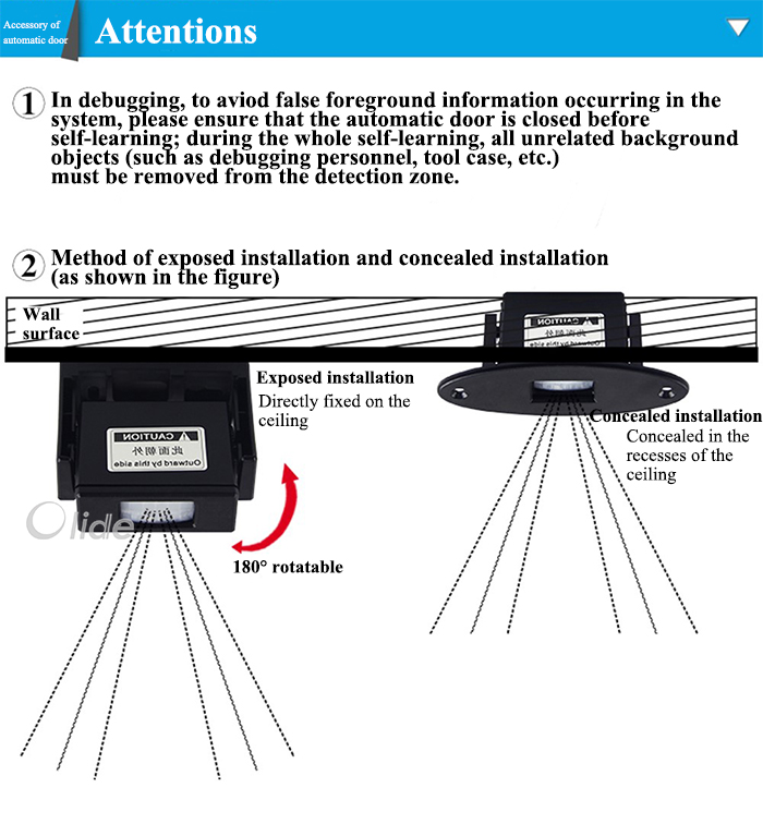 DC 12-30V PIR Sensor Body Sensor Motion Detector Automatic ...