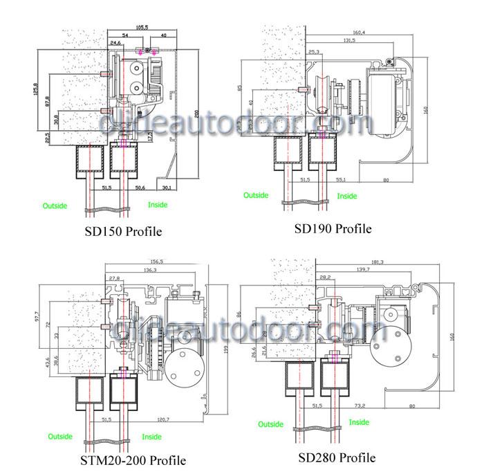 STM20-200- Heavy Duty Sliding Door Mechanism, Record