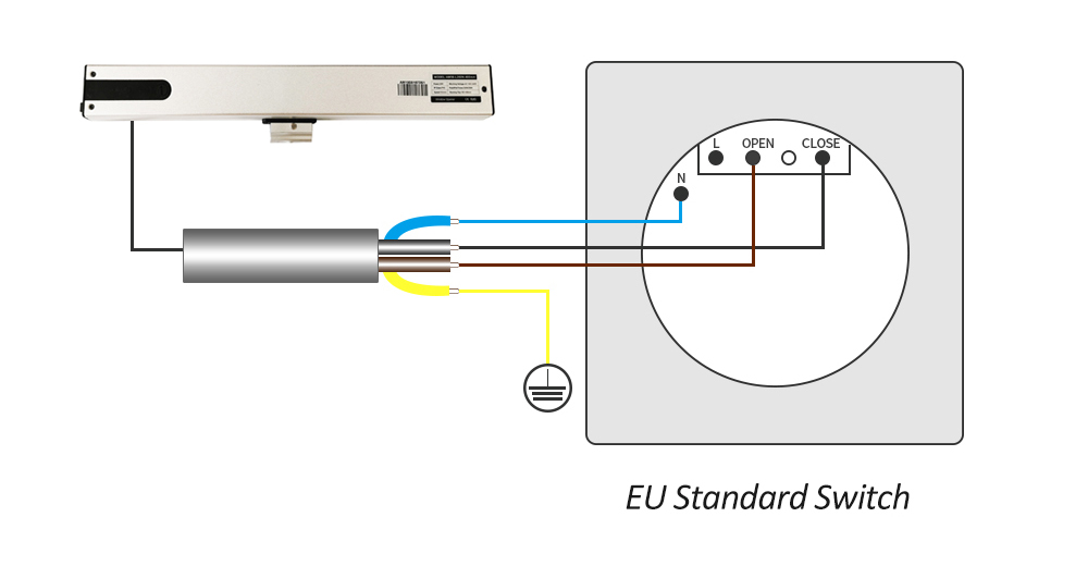 Smart Automatic Window Opener Ac Adjustable Stroke Work